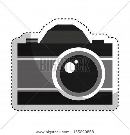 retro photographic camera icon vector illustration design