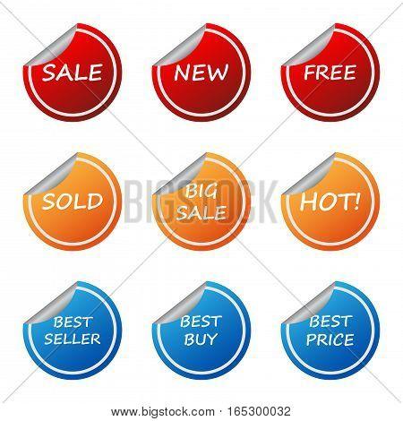 sale promotion sticker label set,vector Illustration EPS10