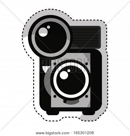 retro photographic camera icon vector illustration design