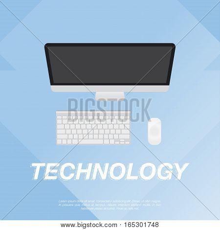 Computer design flat vector illustration EPS 10