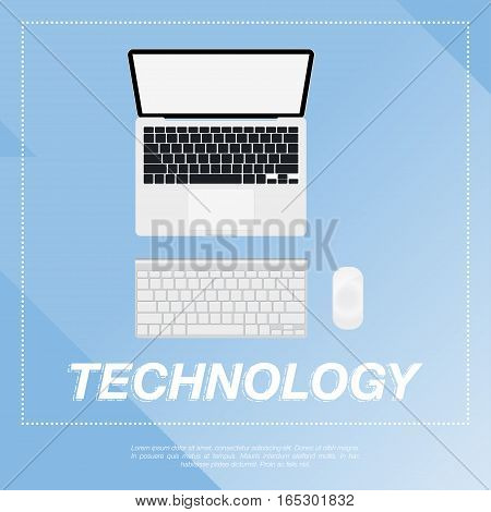 Laptop design flat vector illustration EPS 10