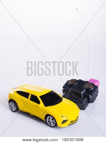 Toy Car Or Radio Control Car On Background.
