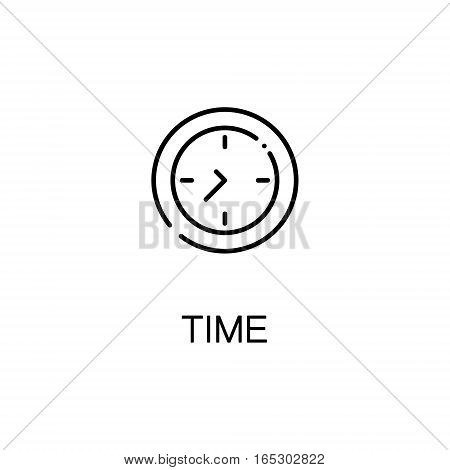Time icon. Single high quality outline symbol for web design or mobile app. Thin line sign for design logo. Black outline pictogram on white background