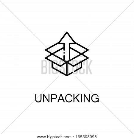 Box icon. Single high quality outline symbol for web design or mobile app. Thin line sign for design logo. Black outline pictogram on white background