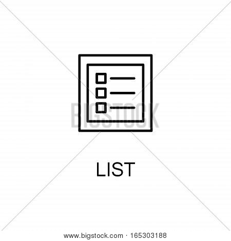 List icon. Single high quality outline symbol for web design or mobile app. Thin line sign for design logo. Black outline pictogram on white background