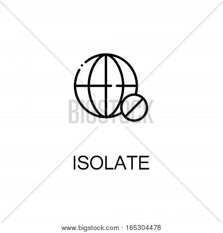 Isolate icon. Single high quality outline symbol for web design or mobile app. Thin line sign for design logo. Black outline pictogram on white background