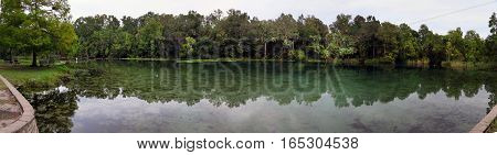 A panoramic view of Alexander Springs in central Florida.