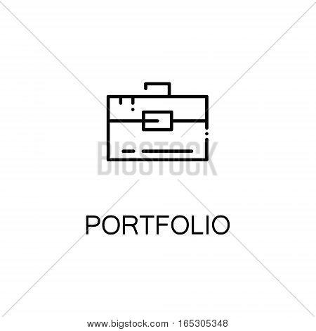 Portfolio icon. Single high quality outline symbol for web design or mobile app. Thin line sign for design logo. Black outline pictogram on white background