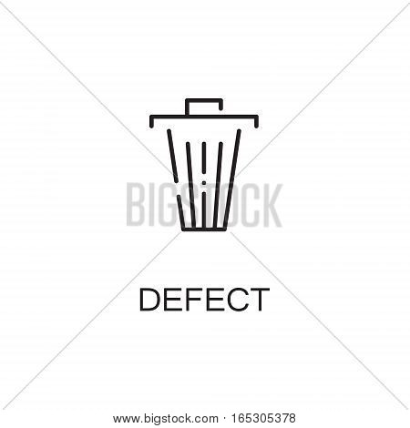 Dustbin icon. Single high quality outline symbol for web design or mobile app. Thin line sign for design logo. Black outline pictogram on white background