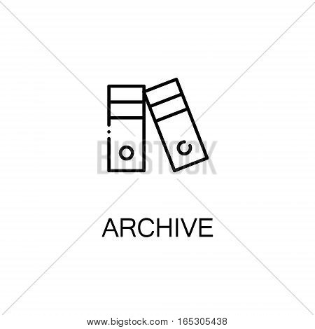 Archive icon. Single high quality outline symbol for web design or mobile app. Thin line sign for design logo. Black outline pictogram on white background