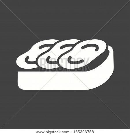 Bruschetta, diet, mediterranean icon vector image. Can also be used for european cuisine.