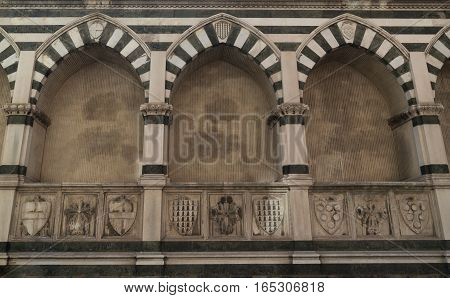 part Basilica of Santa Maria Novella - famous landmark of Florence Italy