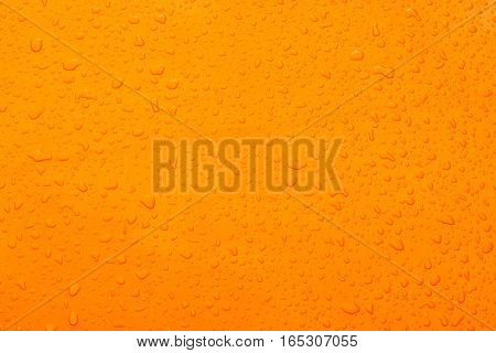 This 's Water drop orange color and background