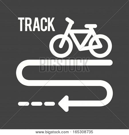 Bicycle, path, town icon vector image.Can also be used for town.
