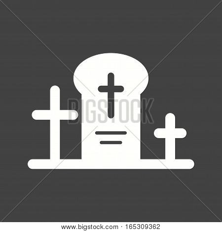 Grave, death, funeral icon vector image. Can also be used for town.