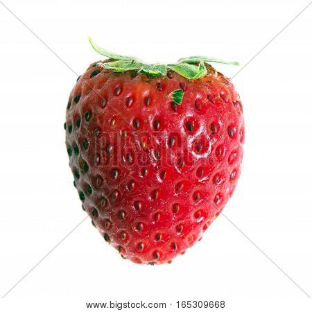 Red Ripe Strawberry Fruit Isolated On White Background