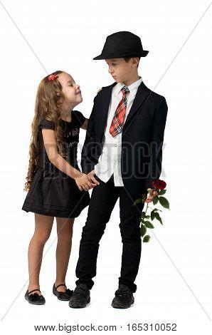 relationship between two little children. happy childhood