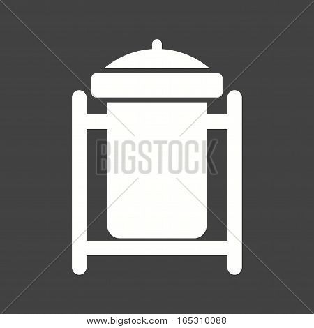Recycle bin, waste bin, dustbin icon vector image. Can also be used for town.