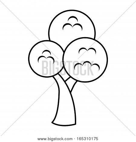tree plant isolated icon vector illustration design