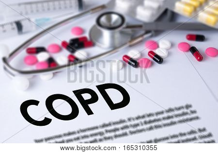 COPD Chronic obstructive pulmonary disease 3d, air, airway, background,