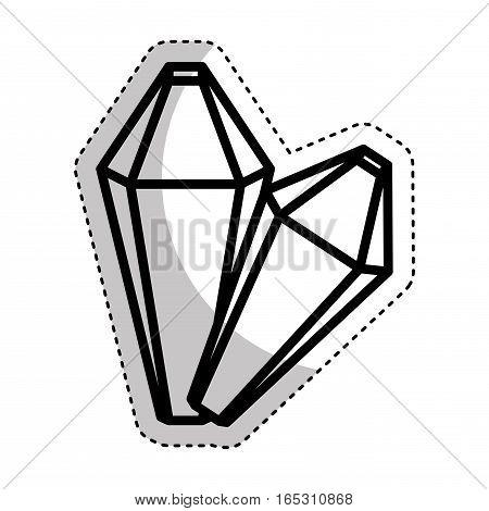 precious rocks isolated icon vector illustration design