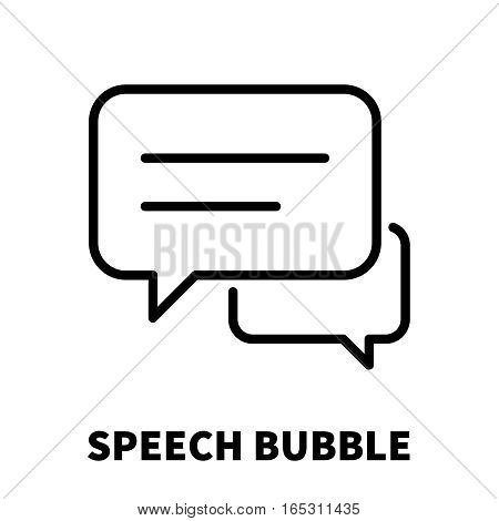 Speech bubble  icon or logo in modern line style. High quality black outline pictogram for web site design and mobile apps. Vector illustration on a white background.