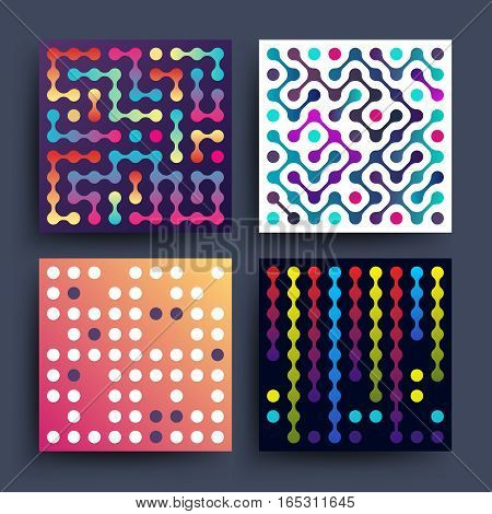 Trendy music dj minimalistic 2d graphic vector design for covers, placards, posters, flyers and banner. Colored cover graphic music, illustration of minimalistic music poster