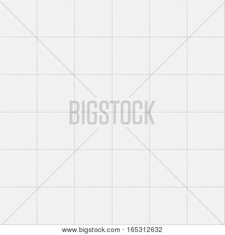 Vintage ceramic kitchen white wall tiles. Vector seamless pattern. Tiles design for bathtoom, illustration of classic construction tiles for wall kitchen