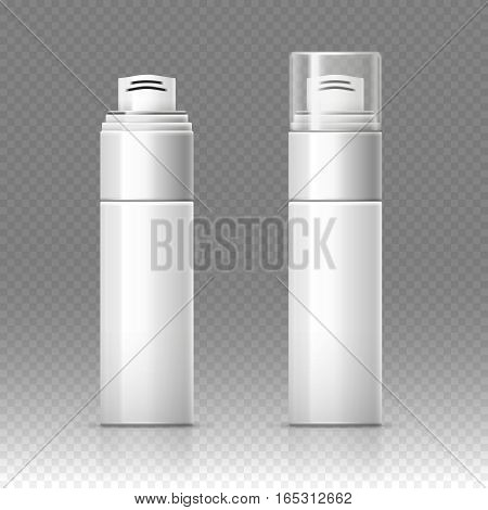 Shaving foam cosmetic bottle sprayer container vector illustration. Spray for shaving, container with gel for shaving