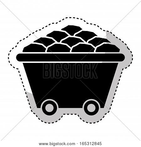 Mine wagon isolated icon vector illustration design