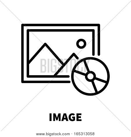 Image icon or logo in modern line style. High quality black outline pictogram for web site design and mobile apps. Vector illustration on a white background.