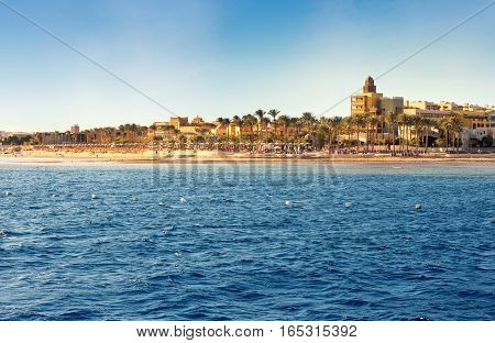Coast of Hurghada on a sunny day Egypt