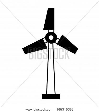 turbine generator energy icon vector illustration design