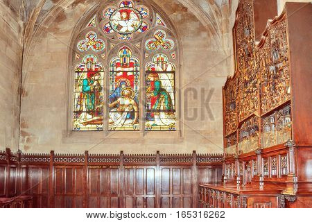 Paris, France - July 06, 2016 : Indoor Saint-germain L'auxerrois Church, Near Louvre. It's Construct