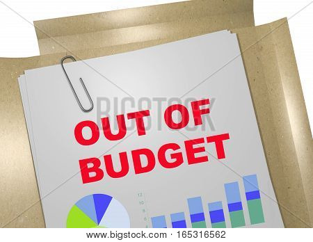 Out Of Budget - Business Concept