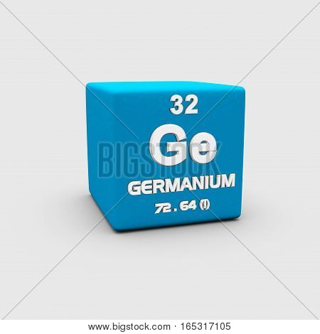 Germanium is a chemical element with symbol Ge and atomic number 32.