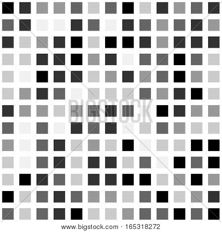 black and white halftone square background. Stock vector illustration