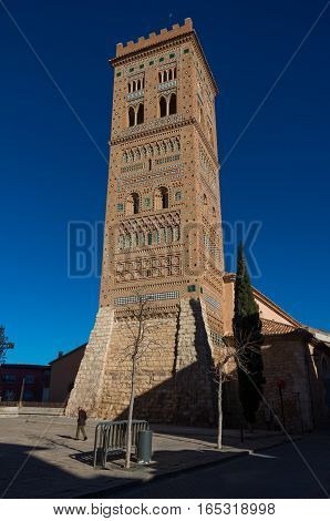 San Martin Tower In Mudejar Style Is A Unesco World Heritage Site,teruel, Spain