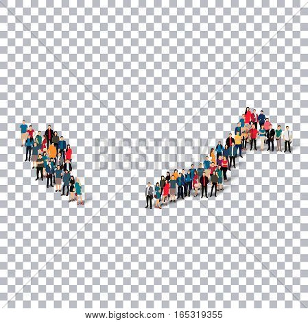 Isometric set of styles, people, map of Malaysia , country, web infographics concept of crowded space, flat 3d. Crowd point group forming a predetermined shape. Creative people. Vector illustration. Photo vector.3D illustration. Transparent background . I