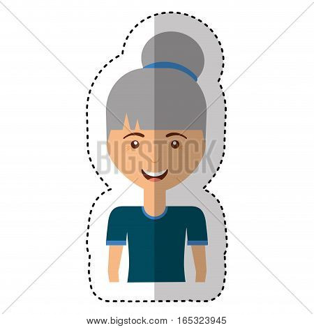 cute old woman character vector illustration design