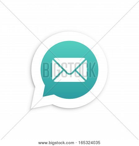 Mail Envelope in speech bubble icon Vector illustration