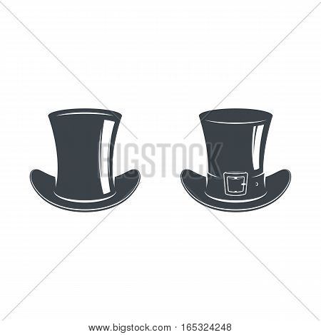 A set of hats, top hats and cylinders