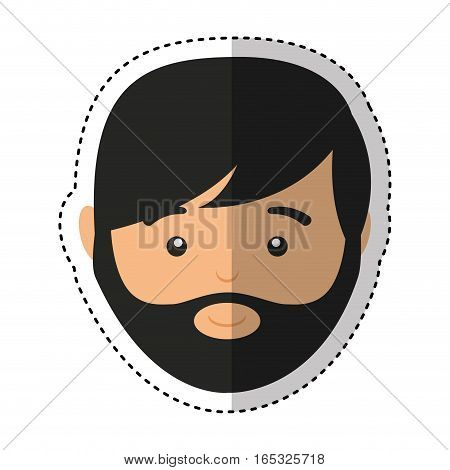 young man casual style vector illustration design