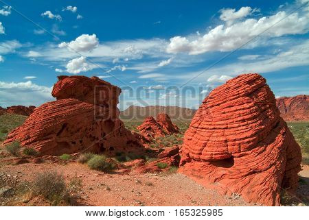 The Valley of Fire State Park is a reserved a few miles from Las Vegas.