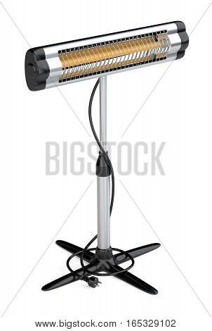Home equipment for heating halogen infrared of quartz heater. High quality 3d illustration isolated on a white background.