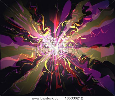Unusual galaxy glassy waves futuristic virtual technology vector