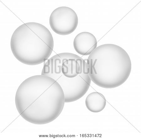 Beautiful spheres. Isolated on white. 3D illustration