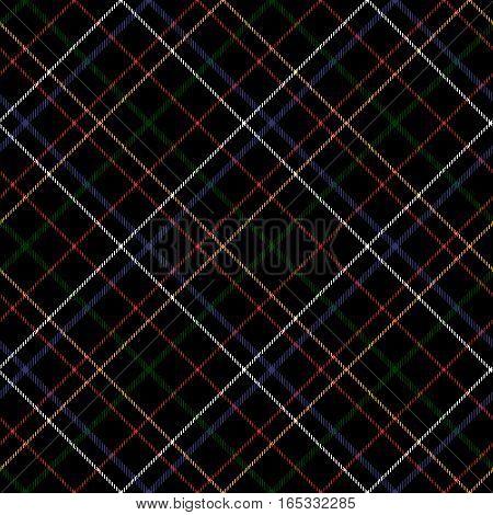 Dark checkered diagonal tartan seamless fabric texture. Vector illustration. Flat design. No gradient. No transparent. EPS 10.