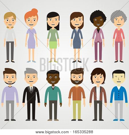 set of images of people. vector illustration
