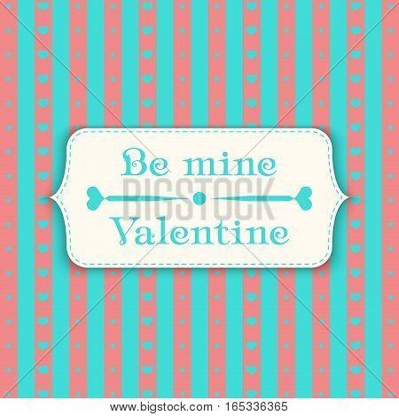 Happy valentines day design template pattern. Valentine's Day poster